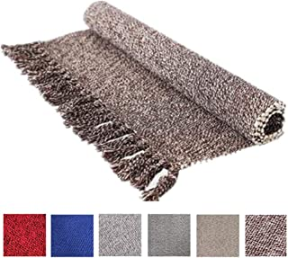 Hand Woven Cotton Reversible Area Rug | Machine Washable Printed Cotton Rugs with Tassel Rug Runner for Kitchen, Living Room, Bedroom, Laundry Room, Entryway