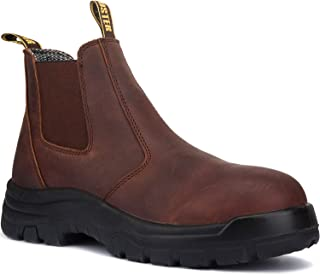 Men's Work Boots, 6'' Soft Toe, Slip On Safety Oiled...