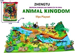 ZHENGTU Exclusive Animal Play Sets (Animal Kingdom - 111 PCS with Play MAT)