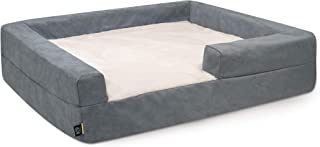 K9 Ballistics Easy Clean Dog Bed Washable Orthopedic, Urine Proof for Incontinent Dogs, Slip Off Cover for Machine Wash, Small, Medium, Large, X-Large, Faux Fur & Microfiber