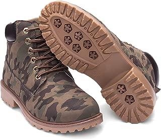 Women's Lace Up Low Heel Work Combat Boots Waterproof Ankle Bootie