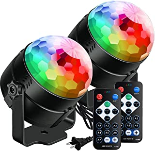 Party Lights Disco Ball Strobe Light Disco Lights 20 Colors Sound Activated Stage Light with Remote Control for Kids, Festival Celebration Birthday Xmas Wedding Bar Club Party