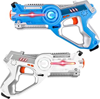 Rainbrace Laser Tag Kids Set of 2,Laser Tag Gun Toys for Kids Adults, Infrared Laser Tag Sets with Gun for Boys Girls