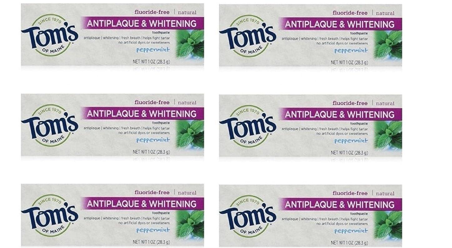 インカ帝国影響を受けやすいです上に築きますTom's of Maine Natural Antiplaque Tartar Control & Whitening Toothpaste Peppermint 1 oz Travel Size by Tom's of Maine