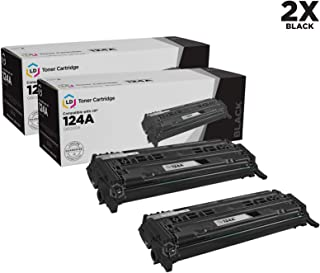 LD Remanufactured Toner Cartridge Replacement for HP 124A Q6000A (Black, 2-Pack)