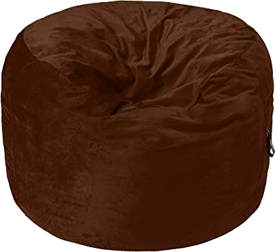 AmazonBasics Memory Foam Filled Bean Bag Chair with Microfiber Cover - 4', Espresso