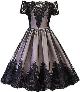 92873ecb947 JapanAttitude Robe Grise avec Broderies Noires baroques