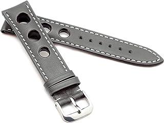 RIOS1931 Bracelet de montre unisexe en cuir de jute modèle Kaluga 19 mm