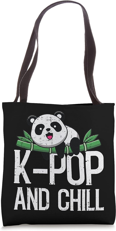 K-Pop Max 73% OFF And Chill Cute sale Panda Meme Korean Bag Music Fan Tote