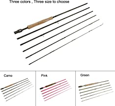 "Aventik Z Fly Fishing rods Best Value 6 Pieces Travel Rods 8'9"" LW4/5, 9'1'' LW5/6, 10'3"" LW2/3, Three Fashion Colors, Fast Action, Light Weight, Super Compact Fly Rod"