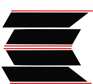 Tower Decals Two Color Fender Hash with Pin Stripes Fits Camaro Grand Sport Silver with Matte Black Pin Stripes 0049
