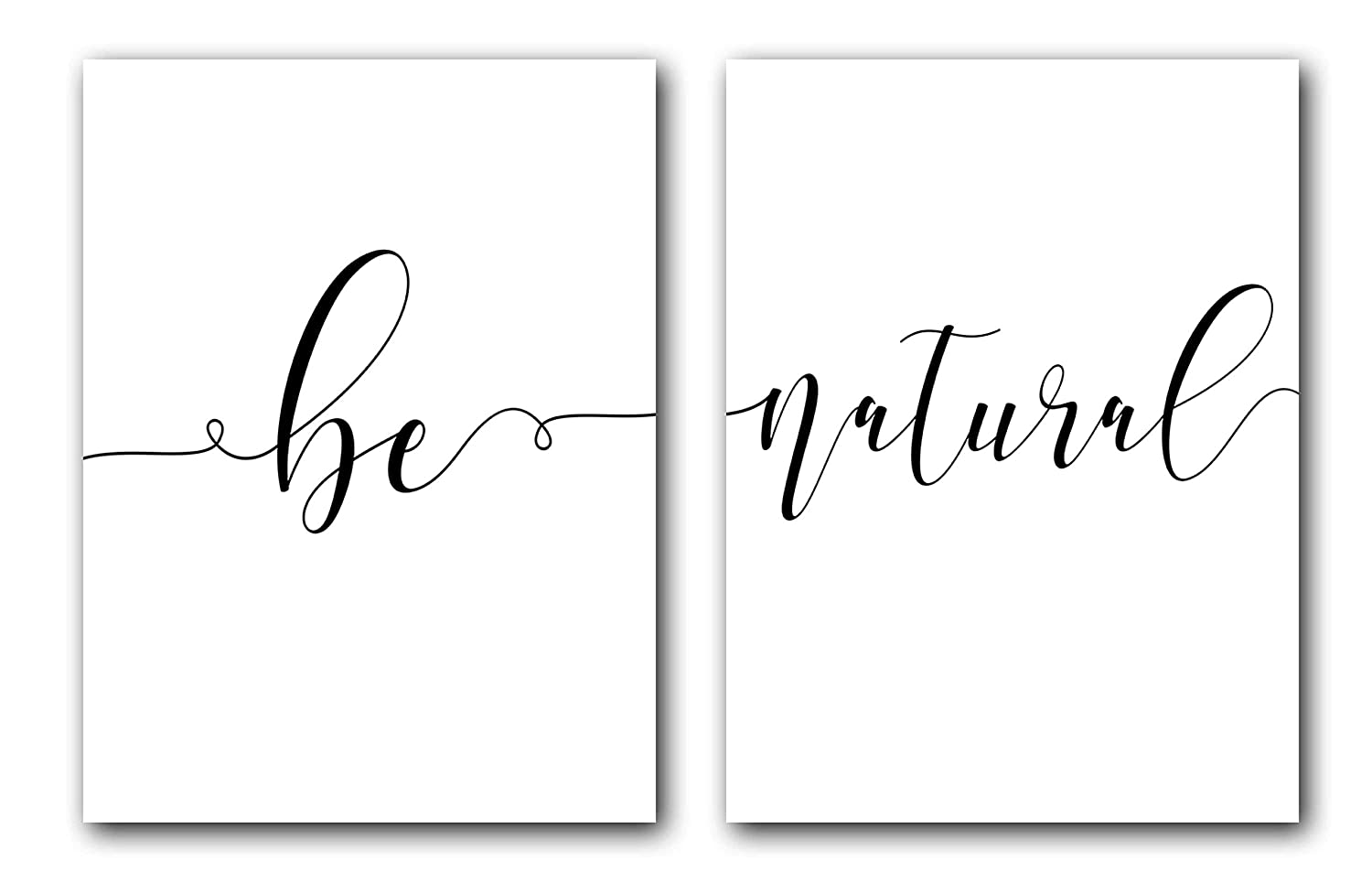 Be Bargain Natural Set of 2 Posters Inches Unframed 24 Prints 36 Max 50% OFF x
