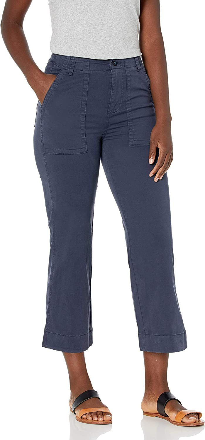 Goodthreads Women's New mail order Standard Stretch Chino Wide-Leg Large special price !! Cro Military