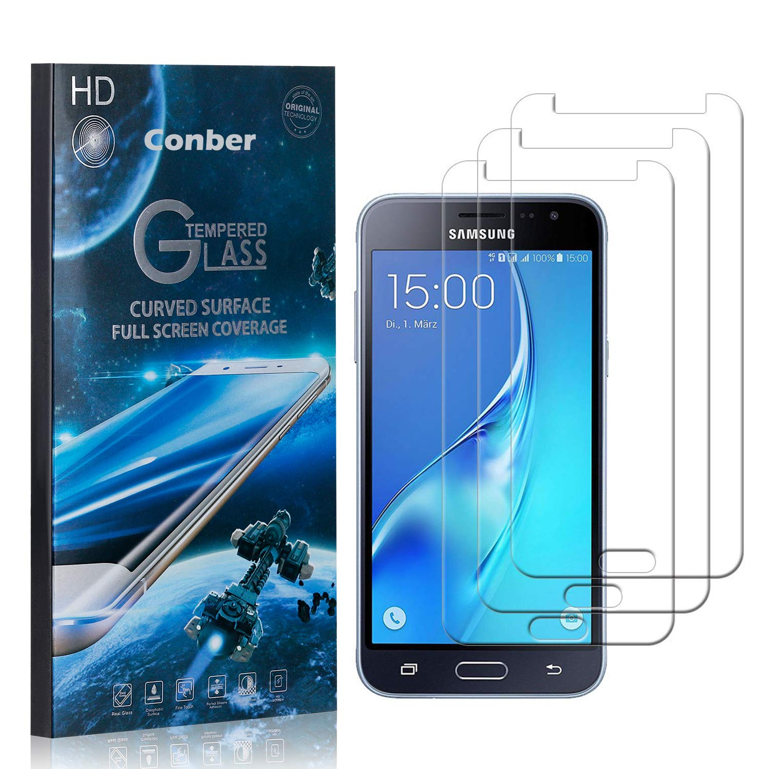 Conber 3 Pack Screen Max 58% OFF Protector for Tampa Mall 2016 Samsung Sc Galaxy J3