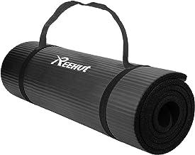 Reehut Gymnastiekmat, yogamat, 12 mm, NBR (nitrilbutadieenrubber), met draagriem, extra dik, antislip, ftalaatvrij, unisek...