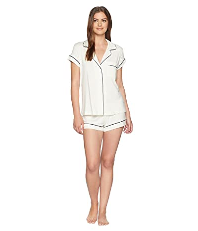 Eberjey Gisele Basics Short PJ Set (Ivory/Navy) Women