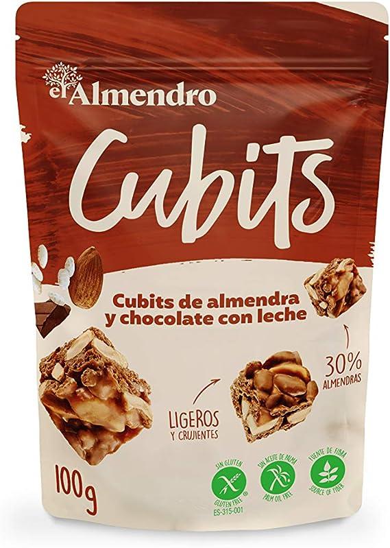 El Almendro - Cubits de Almendra y Chocolate con Leche 100 gr - Sin Gluten - Sin Aceite de Palma - Sin Aromas Artificiales: Amazon.es: Alimentación y bebidas