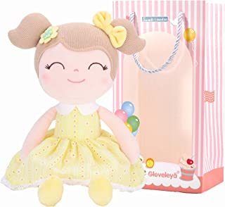 Gloveleya Baby Doll Baby Girl Gifts Plush Yellow Snuggle Buddy Cuddly Soft Play Toy Gift Children16.5 inches