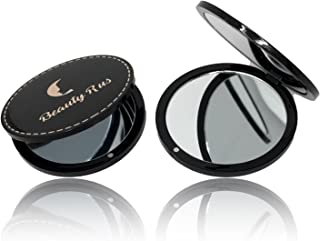 Compact Mirror For Purses - Compact Mirror Magnifying Travel Mirror 3x Magnifying Double Side Glass 3 In. Perfect Purse & Pocket Mirror