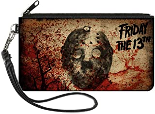 Buckle-Down Women's Zip Wallet Friday The 13th Jason Small, Multicolor, 6.5