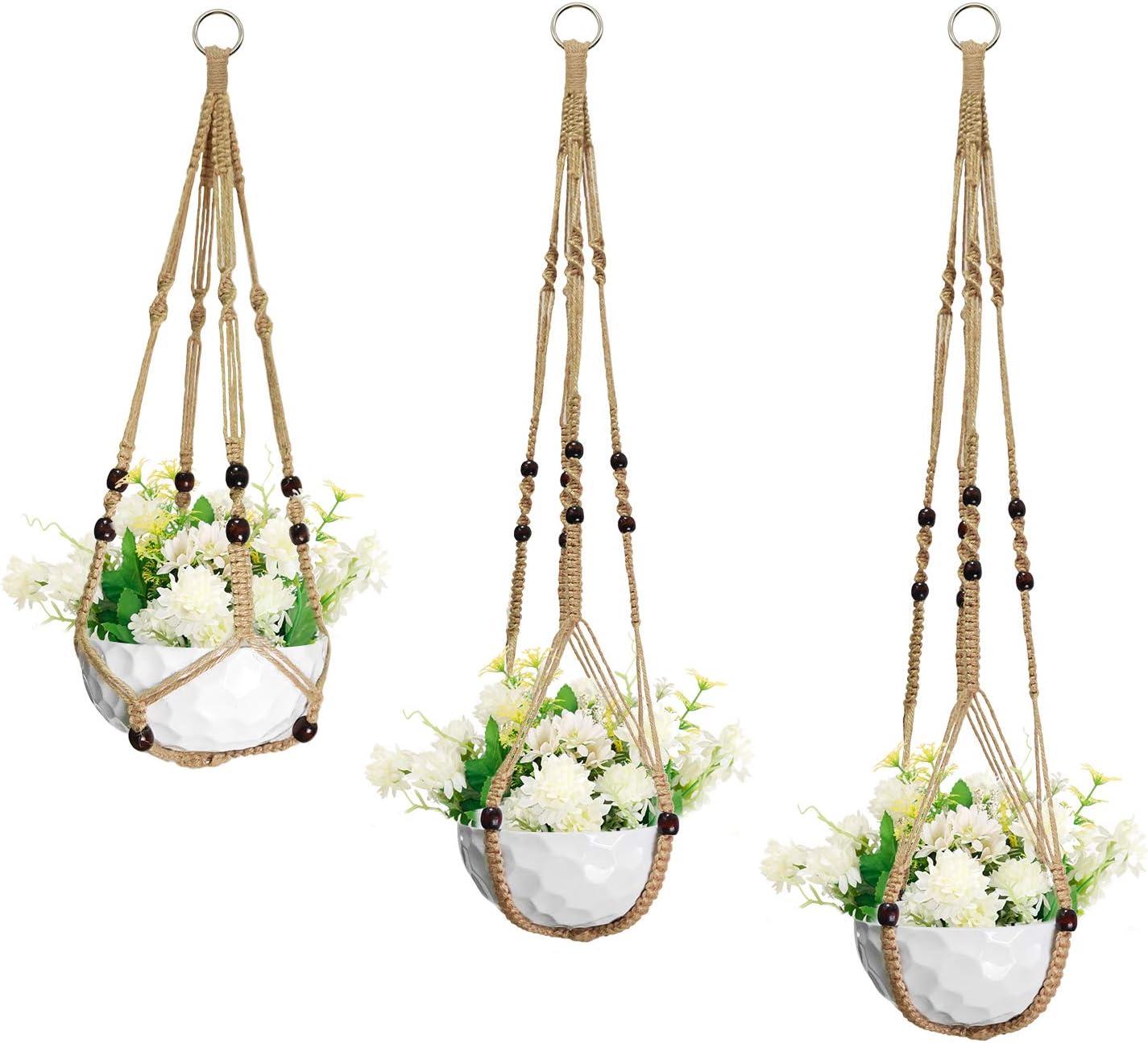 Macrame Plant Hangers San Antonio Mall 3pack 55% OFF Flower Basket Planters Hanging