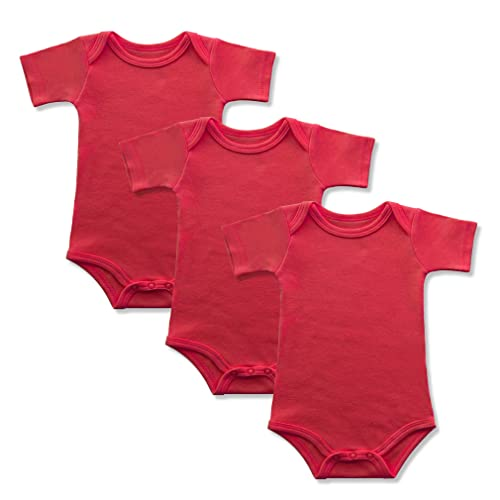 def6d20ca GLEAMING GRAIN 3-Pack Short Sleeve Baby Bodysuit Infant Clothing 100%  Cotton Baby Onesie