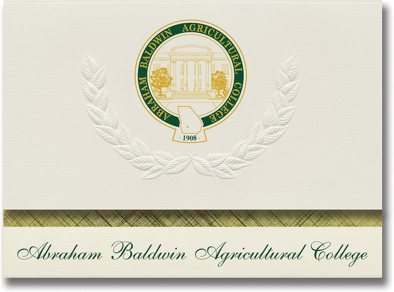 Signature Ankündigungen Abraham Baldwin Landwirtschaftliche College Graduation Ankündigungen, platin Stil, Elite Pack 20 mit Abraham Baldwin Landwirtschaftliche College Seal Folie B0793JTXVT    | Auktion