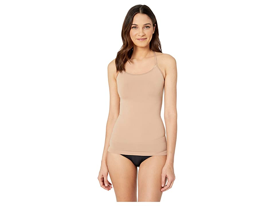 Yummie Ultralight Seamless Smoothing Cami with Lace (Almond/Lace) Women