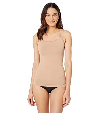 Yummie Ultralight Seamless Smoothing Cami with Lace T-back (Almond/Lace) Women