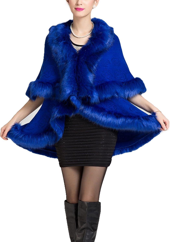 LIMATRY Women's cashmere shawl cape coat  fashion knit cardigan cape coat