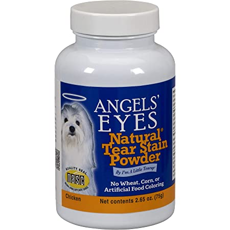 Angels' Eyes NATURAL Tear Stain Prevention Powder for Dogs and Cats- 75 gram - Chicken Formula