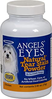 (75 Grammes, White) - Angels' Eyes Tear Stain Eliminator-Remover, 80ml, Natural Chicken