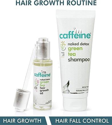 mCaffeine Green Tea Hair Growth Routine Kit | Hair Growth, Hair Fall Control | Hair Oil, Shampoo | All Hair | SLS & Mineral Oil Free