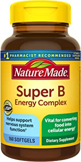 Nature Made Super B Energy Complex Softgels, 160 Count for Metabolic Health†