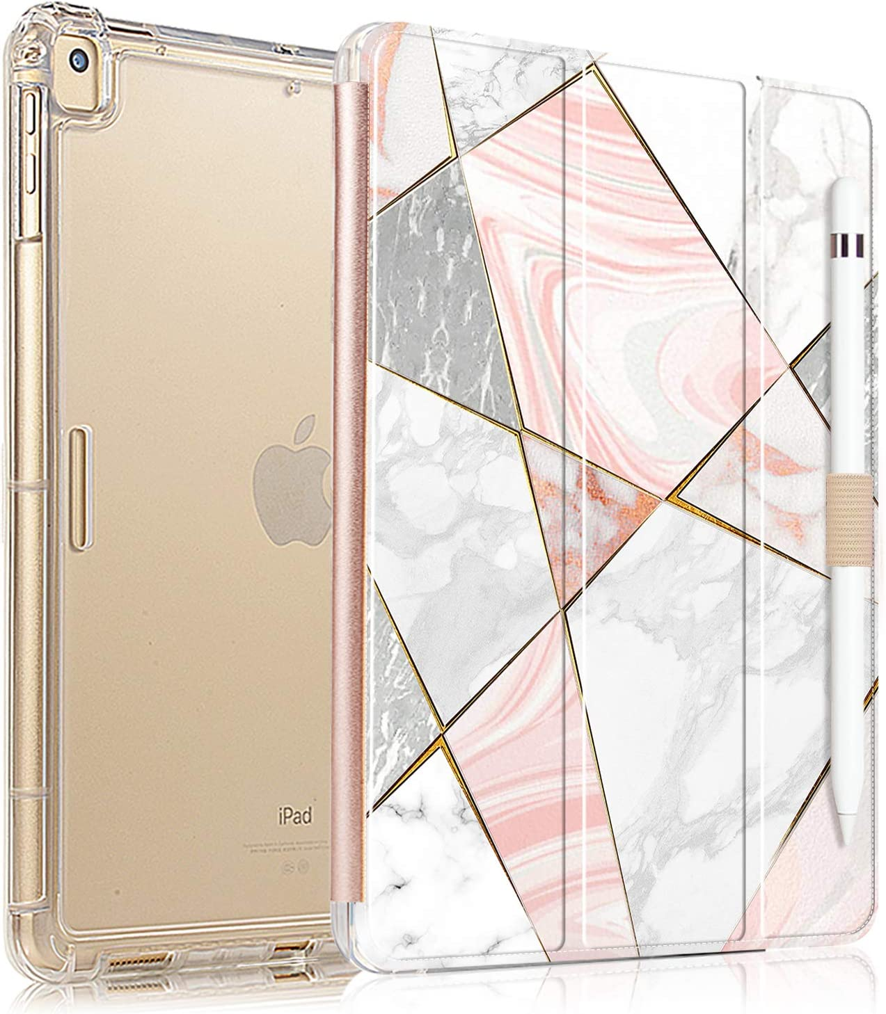 Valkit iPad Air 3rd Gen 10.5'' 2019 / iPad Pro 10.5'' 2017 Case, Smart Folio Stand Protective Translucent Frosted Back Cover for Apple iPad Air 3 10.5 Inch 2019 / iPad Pro 10.5