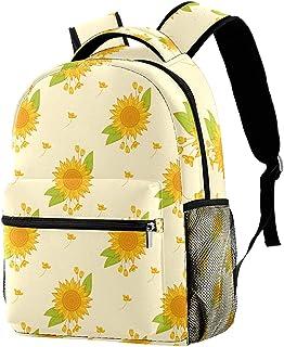 حقيبة ظهر مدرسية كلاسيكية خفيفة الوزن للسفر حقيبة كمبيوتر محمول Daypack للنساء المراهقات والرجال أبيض أزرق بولكا نقطة