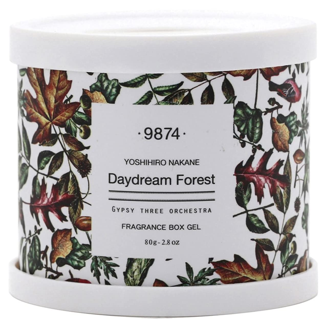 弾力性のある傀儡磁気ノルコーポレーション 芳香剤 GYPSY THREE ORCHESTRA × YOSHIHIRO NAKANE フレグランスボックスジェル 80g DAYDREAM FOREST OA-GOF-2-3