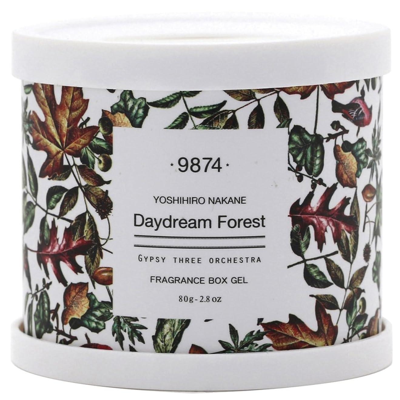 摂氏恥事前ノルコーポレーション 芳香剤 GYPSY THREE ORCHESTRA × YOSHIHIRO NAKANE フレグランスボックスジェル 80g DAYDREAM FOREST OA-GOF-2-3