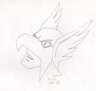 Hawkman 1967 to 1968 Production Animation Cel Drawing Filmation Superman