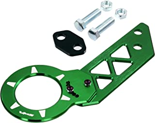 GREEN REAR ADJUSTABLE T6061 CNC Billet Anodized Aluminum Towing TOW HOOK for Honda Acura Integra 86 87 88 89 90 91 92 93 94 95 96 97 98 99 00 01 1986 1987 1988 1989 1990 1991 1992 1993 1994 1995 1996 1997 1998 1999 2000 2001 (Brand New – Totally REDESIGNED) JDM