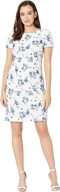 B773 La Vara Floral Adika Short Sleeve Day Dress