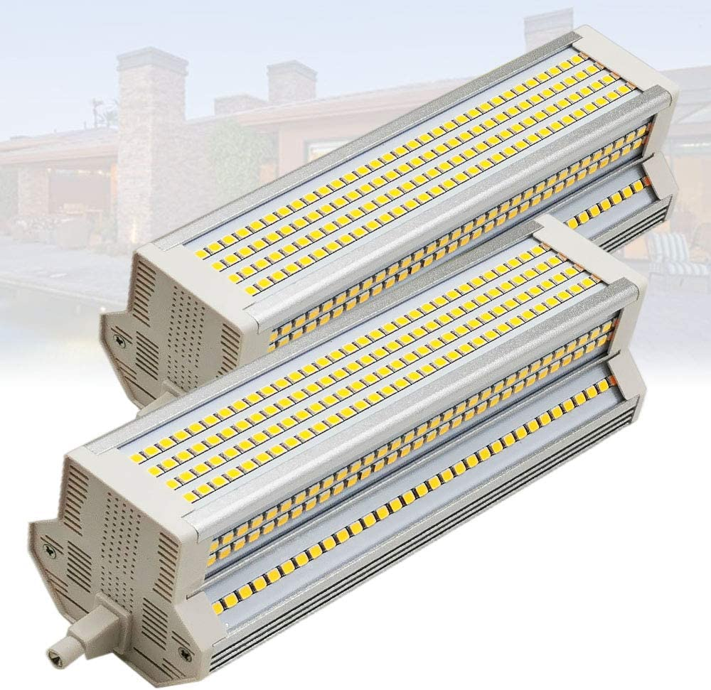 BULBS 2-PC 60W R7S LED Cool Outdoor depot 189mm White Max 81% OFF Double Ended Equ