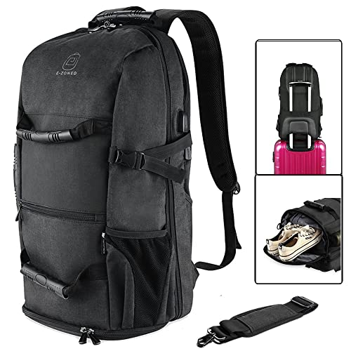 2e7fea7e42 BTOOP Travel Backpack with USB Charging Port for 17.3 Inch Laptop Business Travel  Duffel Backpack with