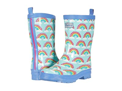 Hatley Kids Magical Rainbows Shiny Rain Boots (Toddler/Little Kid) (Aqua) Girls Shoes