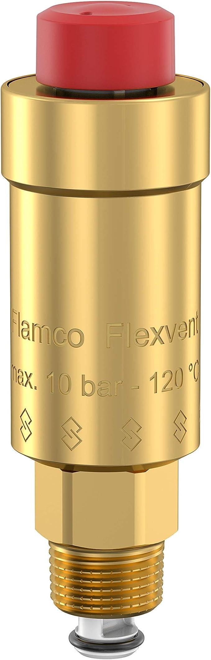 Flamco Flexvent automatischer Schwimmer Entlüfter Top Solar gerade winklig weiß