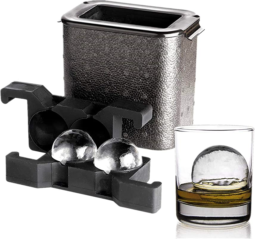 Crystal Clear Ice Ball Maker Ice Ball Spherical Whiskey Tray Mould Maker Bubble Free 2 Cavity 2 35 Mold An Ice Tong Included Ball