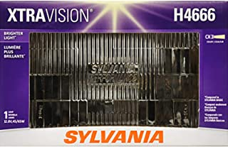 SYLVANIA - H4666 XtraVision Sealed Beam Headlight - Halogen Headlight Replacement 100x165 Delivers More Downroad Visibility (Contains 1 Bulb)
