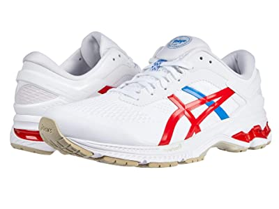 ASICS GEL-Kayano(r) 26 (White/Classic Red) Women