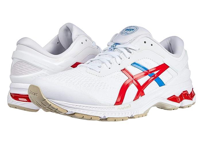 ASICS  GEL-Kayano 26 (White/Classic Red) Womens Running Shoes