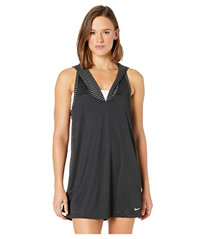 Nike Solid Hooded Dress Cover-Up (Black) Women
